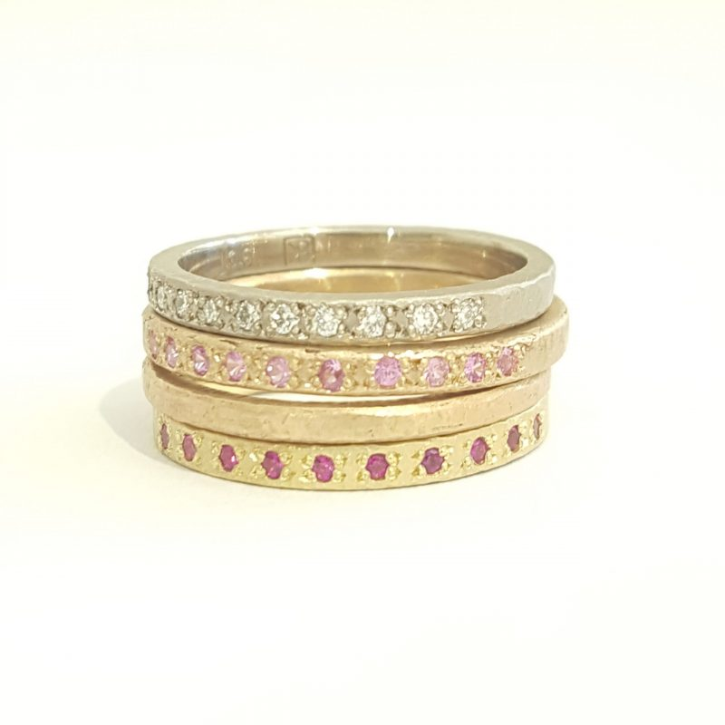 Bridget Kennedy Rings Diamonds Pink Sapphires
