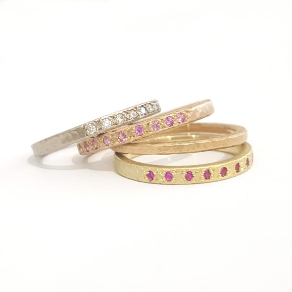 Gold Rings Diamonds Rubies Pink Sapphires