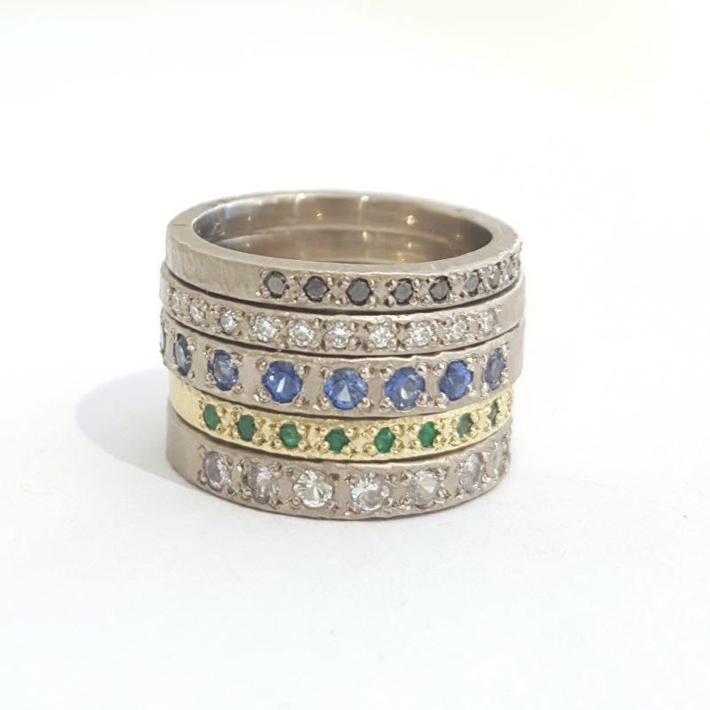 Gold rings Diamonds Emeralds Black diamonds Sapphires