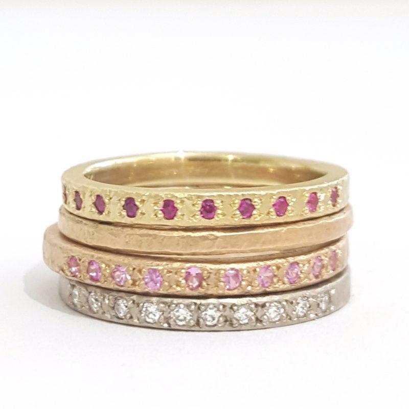 Ruby Diamond Sapphire Gold Rings