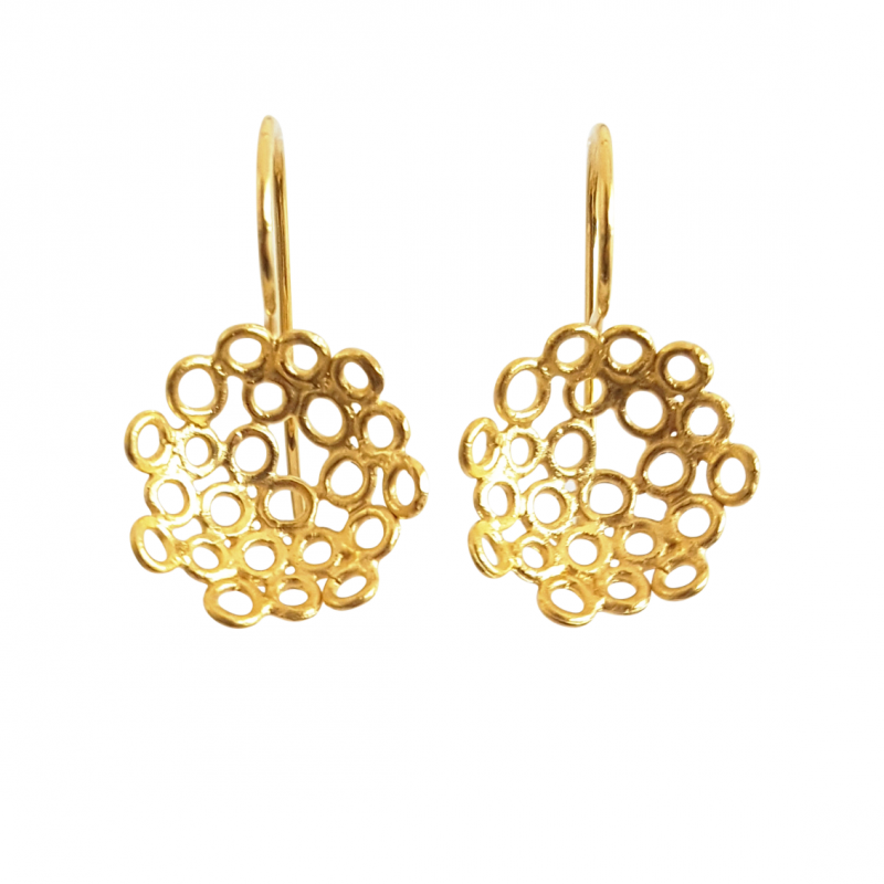 Bridget Kennedy yellow gold little melt drop earrings