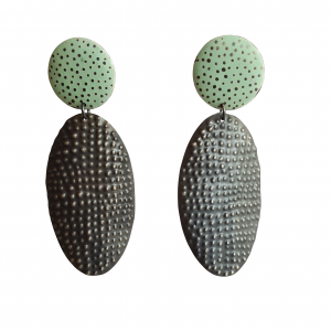 Bridget Kennedy going dotty mint drop earrings