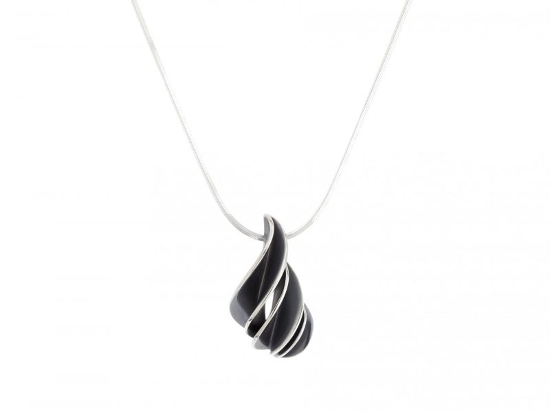 nicola-bannerman-silver-spiral-pendant