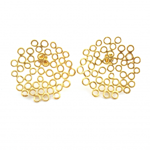 26be783a5 Big Melt earrings – large gold plated studs