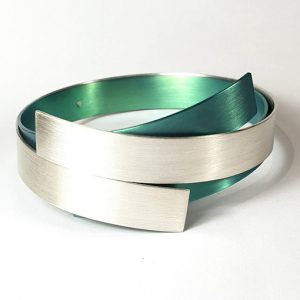 green titanium silver bangle vanessa williams
