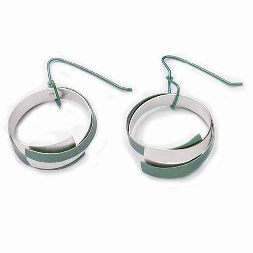 vanessa-williams-hoop-green-earrings