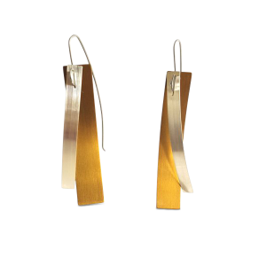 V Williams gold titanium and silver earrings