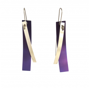 V samuels purple titanium earrings