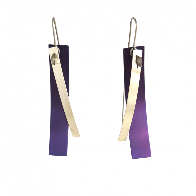 V samuels purple titanium earrings
