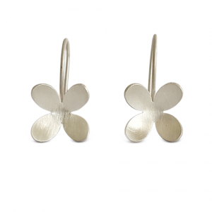 Bridget-Kennedy-4-petal-silver-drop-earrings