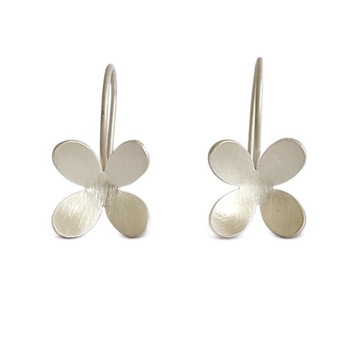 Bridget-Kennedy-4-petal-silver-drop-earrings
