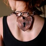 in memory of food neckpiece - back padlock