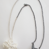 Anna Vlahos silver necklace five flower pendant