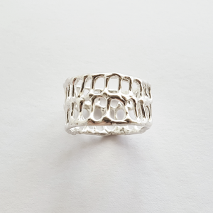 Anna Vlahos silver ring bone sterling