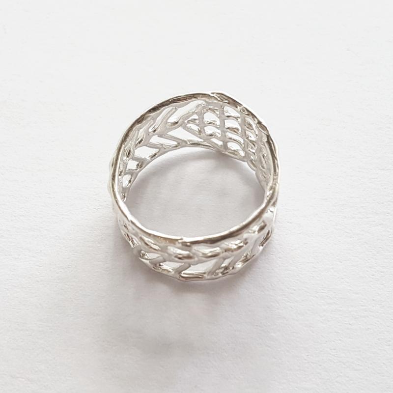 Anna Vlahos silver ring irregular sterling