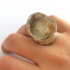Coming from nothing crushed quartz and gold ring