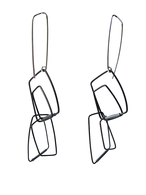 Szilvia Gyorgy Geometric Bold Black Earring web size