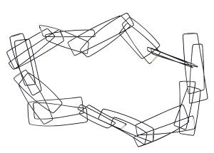 Szilvia Gyorgy Geometric Chain Bold Black