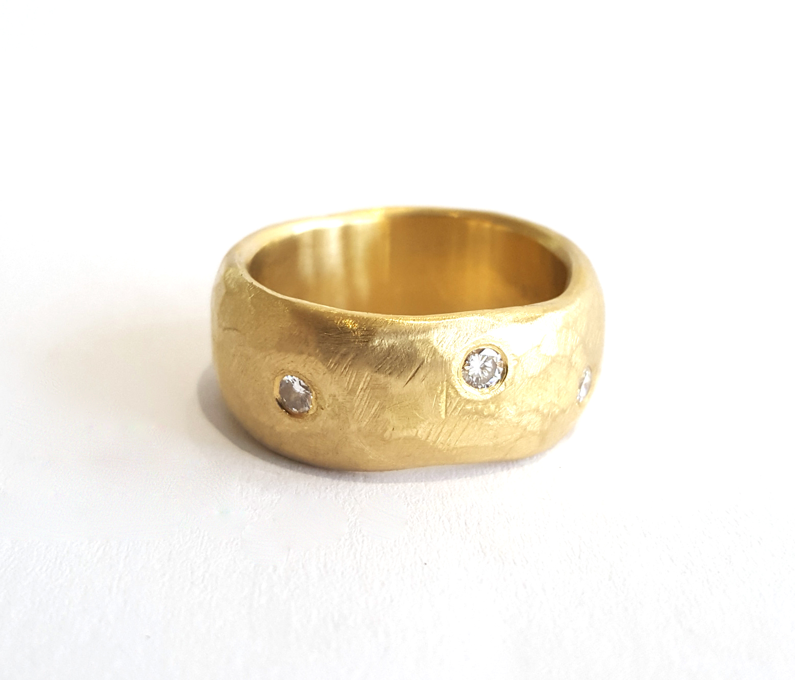 Jewellery Commission - gold and diamond ring commission remakery