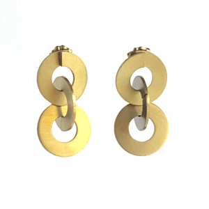 Gold titanium washer earrings