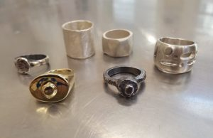 finished rings from wax ring workshop
