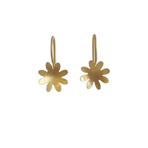 Bridget Kennedy 8 petal gold drops