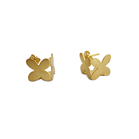 bk gold cube petal studs
