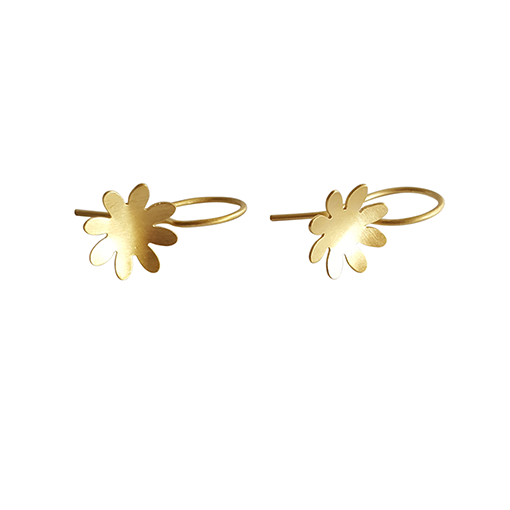 bk gold eight petal small flower drops 3