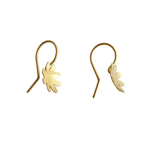 bk gold eight petal small flower drops 4