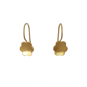 bk gold six petal small flower drops