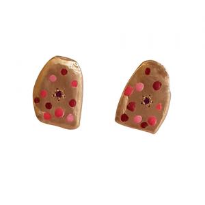 bridget kennedy rajasthani 9ct rosegold ruby studs 480