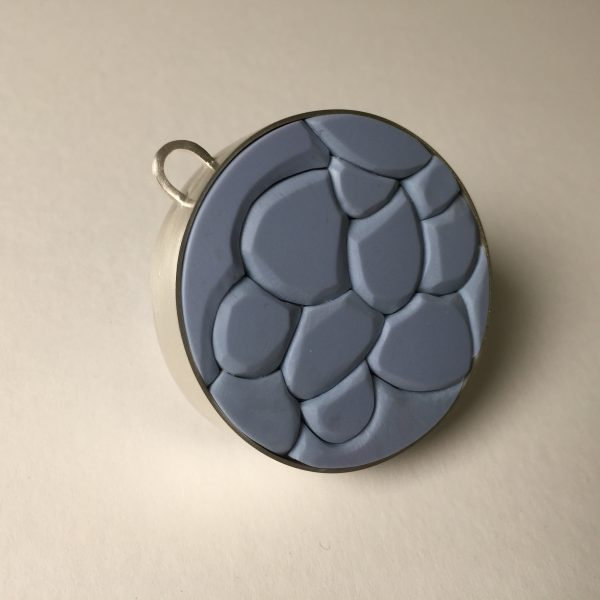 'Ocean Jewel – Sea Blue', Pendant 2018, recycled sterling silver, recycled plastic, wood, stainless steel