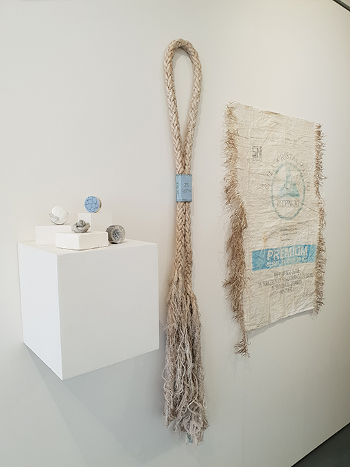 'Ocean Jewel – patched', Wallpiece 2018, recycled sterling silver, plastic marine debris (Raja Ampat, Indonesia)