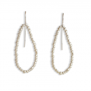 single loop pebble drop earrings