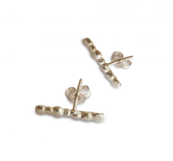 silver-pebble-stick-stud-earrings