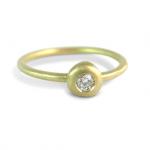 gold diamond pebble ring