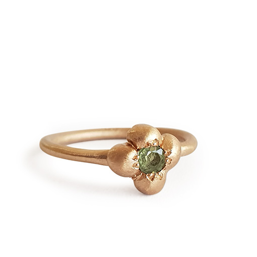 rose gold parti sapphire ring