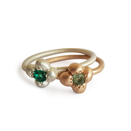 godl and silver gemstone rings