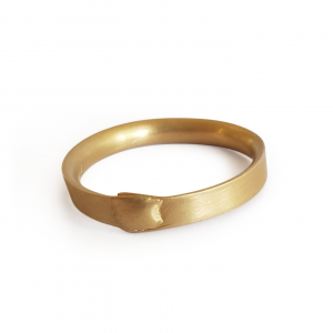 18ct yellow gold wrap ring