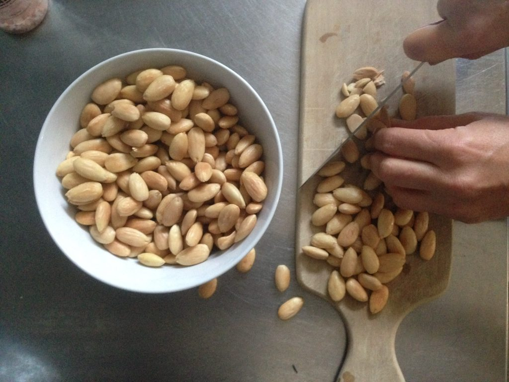 making almond sweets