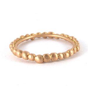 gold dot ring