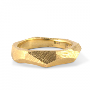 facet ring gold