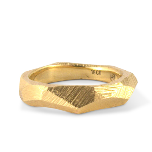 facet ring gold