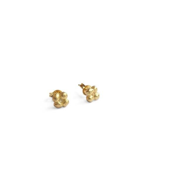 gold-4-pebble-stud-earrings