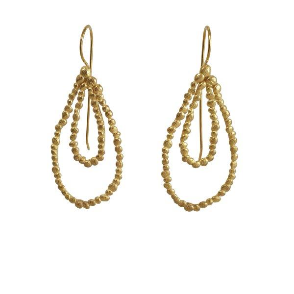 gold plated double drop