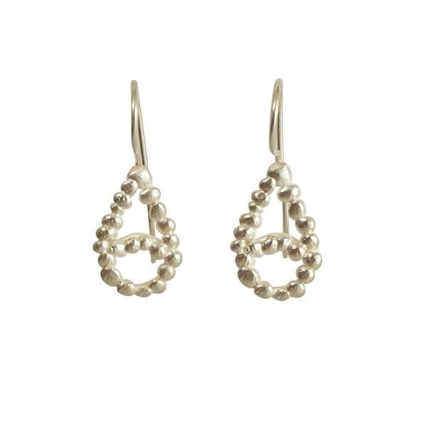 silver_pebble_tear_drop_earrings