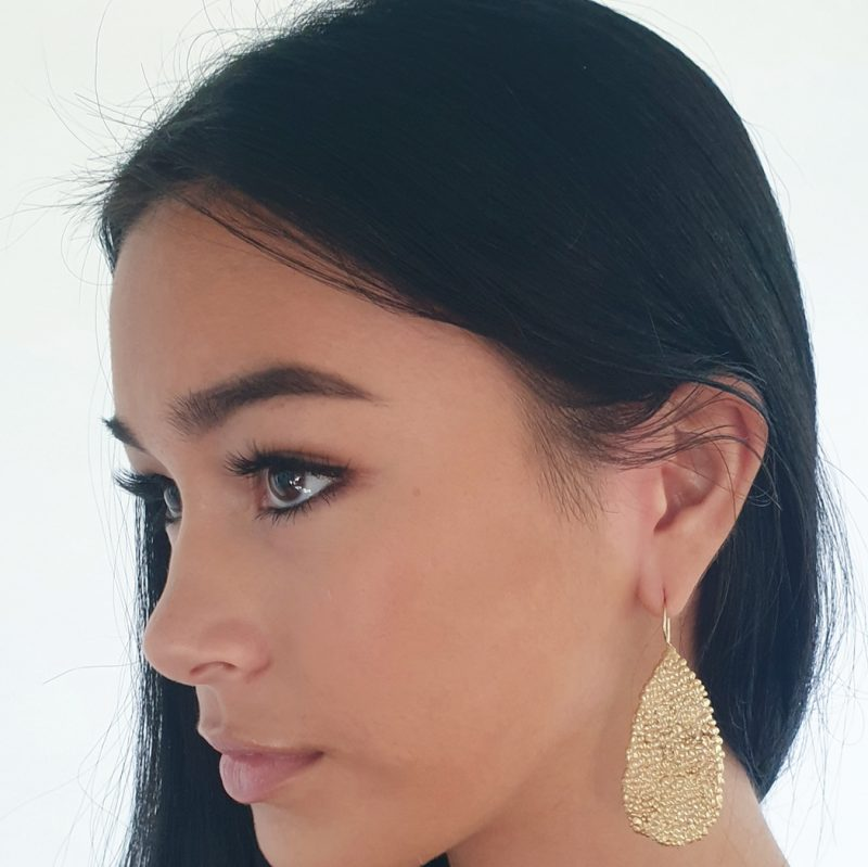 solid gold plated sterling palawan pear drops