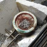 melting part of the silver chain