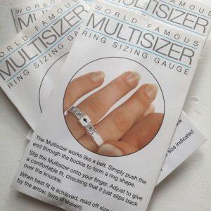 adjustable plastic ring sizer