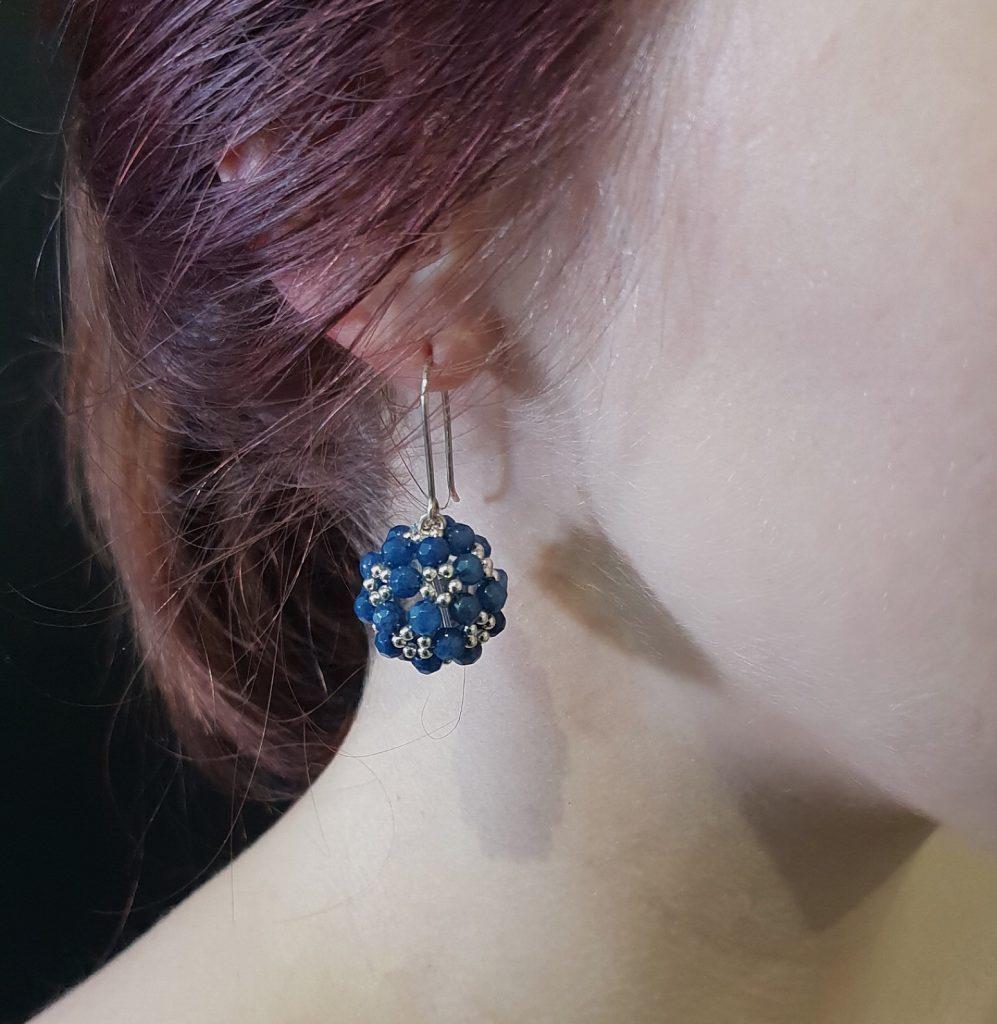 Jenny Fahey lapis lazuli beaded earrings